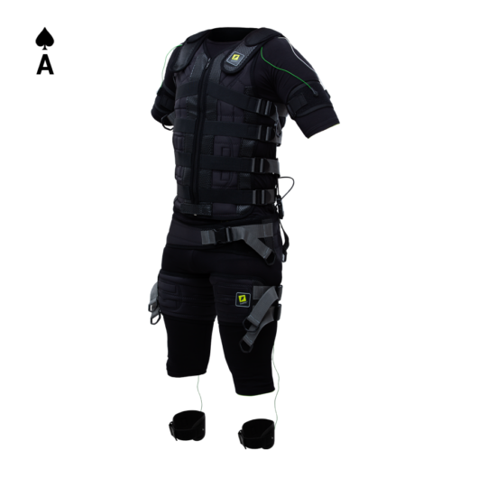 Ace suit with cables and electrodes